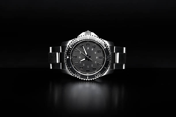 Wrist Watch Luxury stainless steel wrist watch. luxury watch stock pictures, royalty-free photos & images