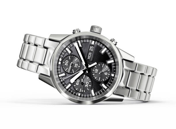 wrist watch wrist watch isolated on a white. 3d illustration luxury watch stock pictures, royalty-free photos & images