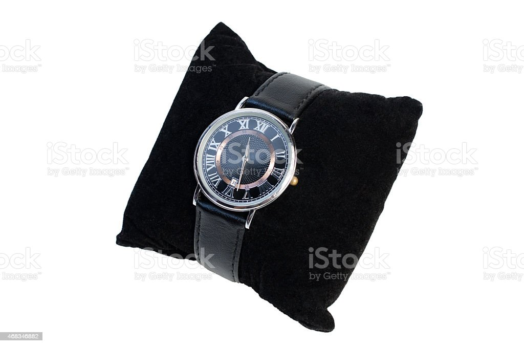 wristwatch on the pillow royalty-free stock photo