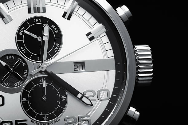 Wristwatch Wristwatch Black background luxury watch stock pictures, royalty-free photos & images