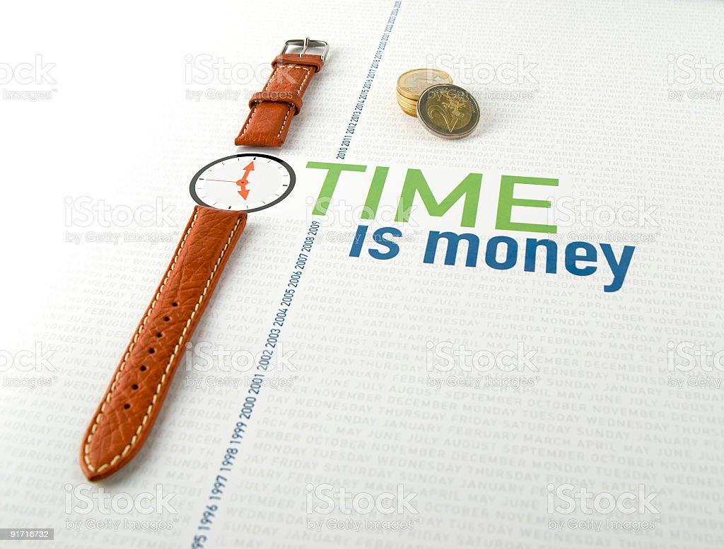 Wristwatch - time is money stock photo