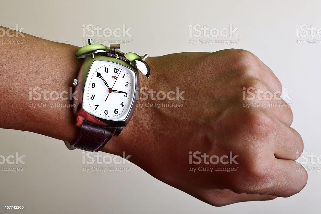 wristwatch with alarm stock photo