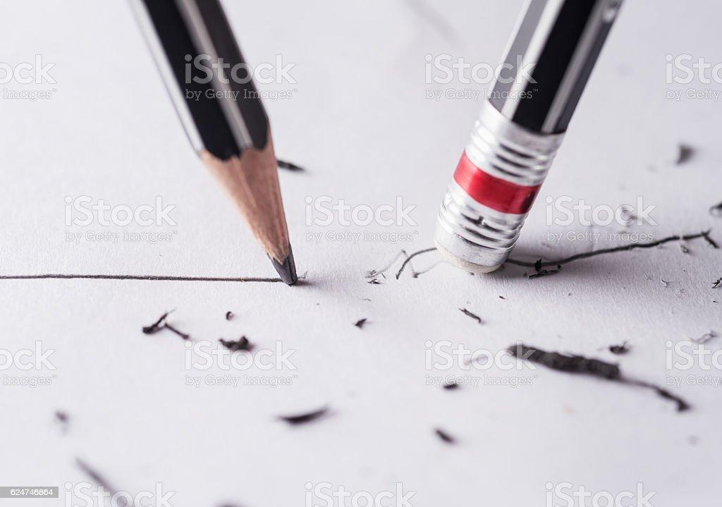 Write and erase stock photo