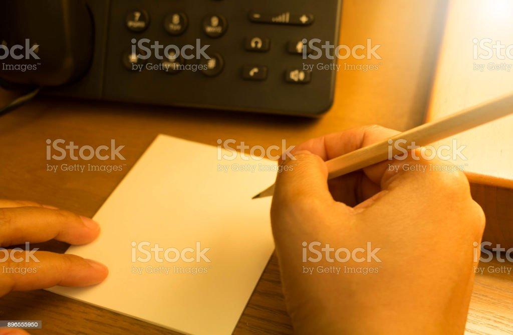 write note stock photo