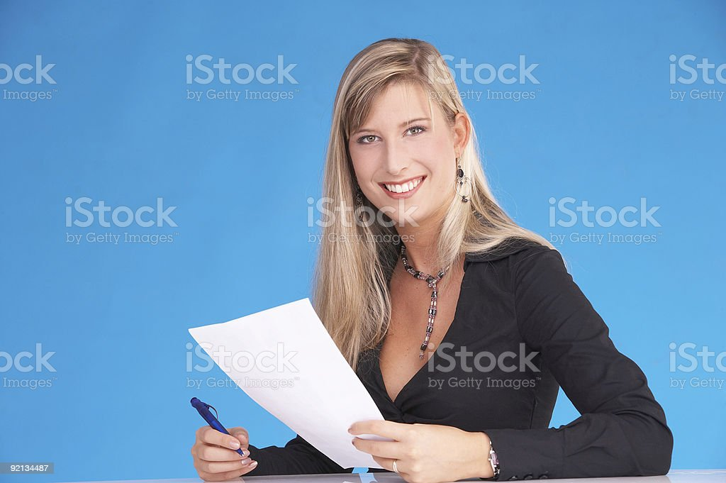 write that down royalty-free stock photo