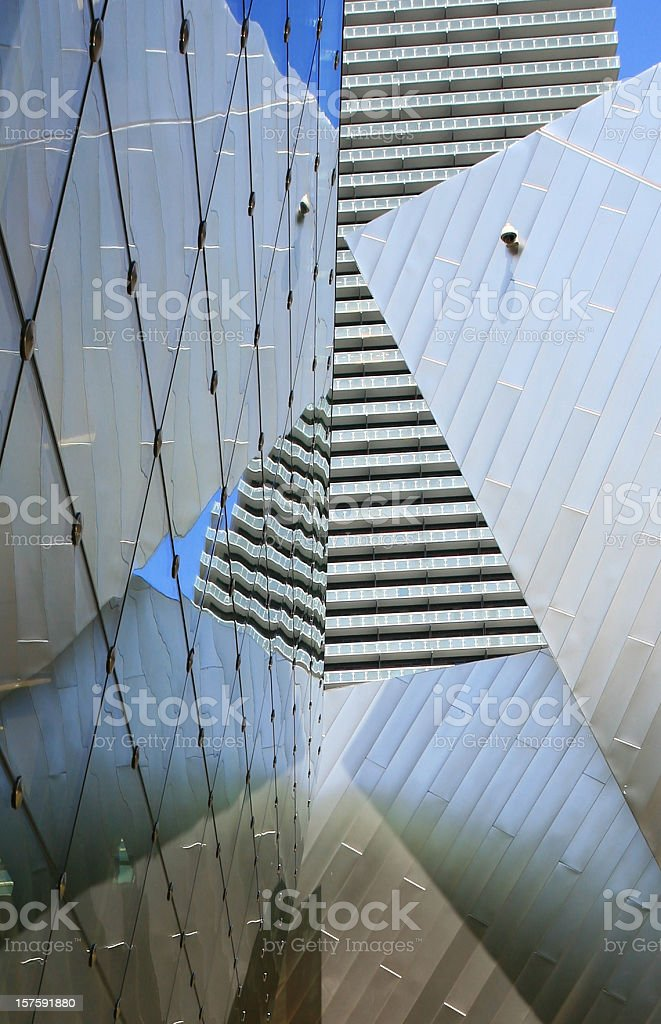 Write the title... Low angle view of modern architecture. royalty-free stock photo
