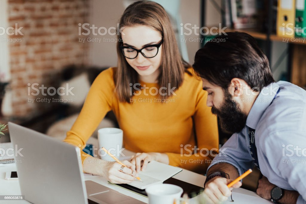 Write those things down, please stock photo
