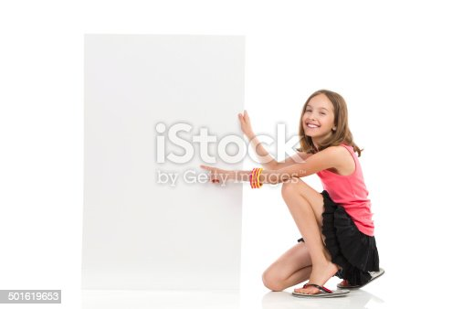 istock Write your message on blank banner 501619653