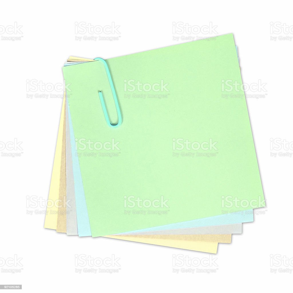 Write your own note on it! royalty-free stock photo
