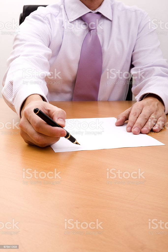 Write your signature here royalty-free stock photo