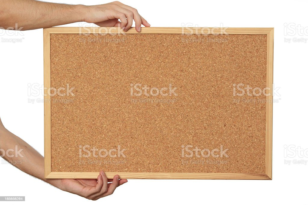 Write your text on the cork royalty-free stock photo