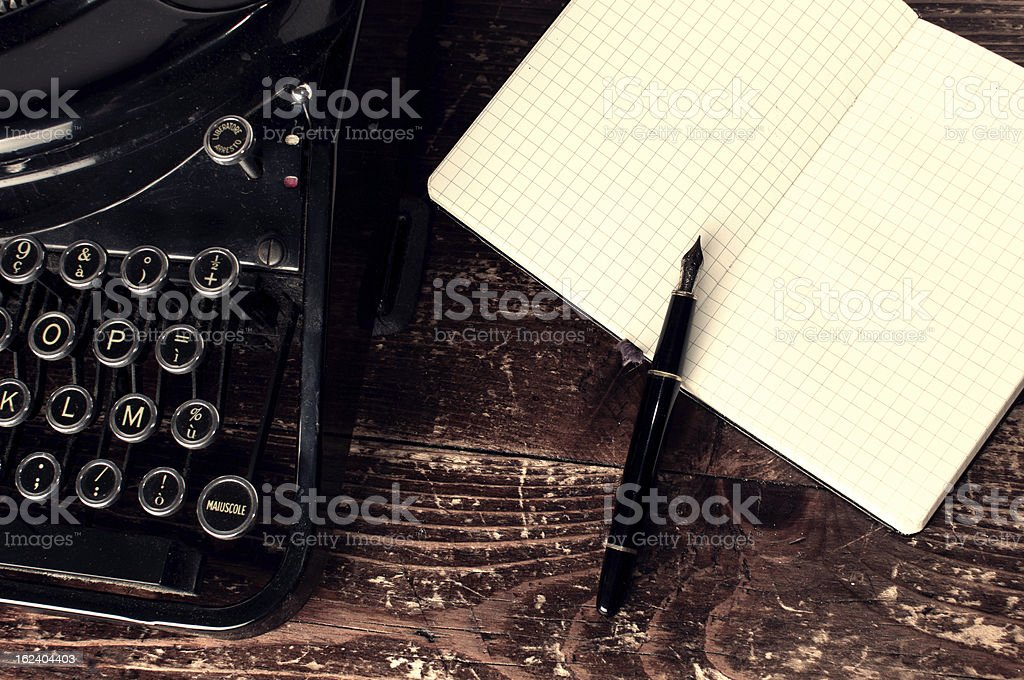 Writer Desk stock photo