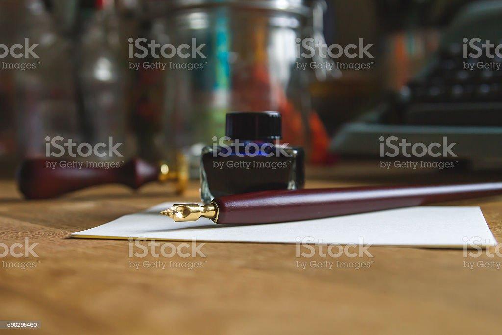 writer desk royaltyfri bildbanksbilder