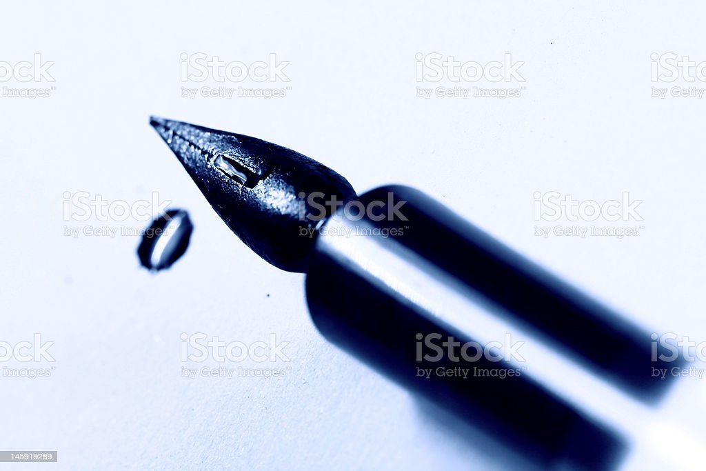 writer ink and pen royalty-free stock photo