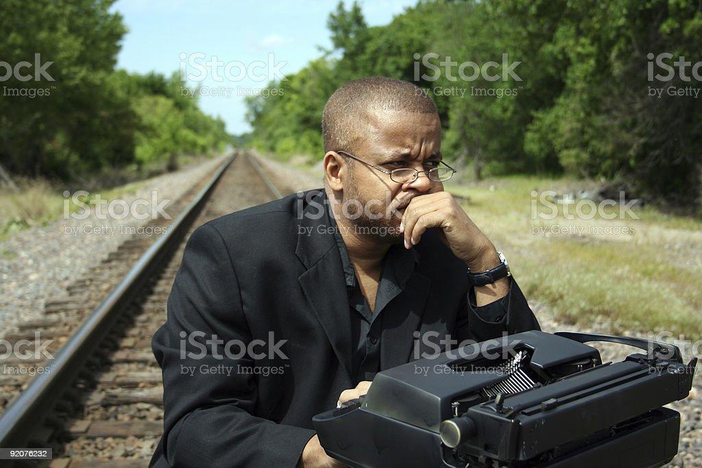 Writer on the Tracks royalty-free stock photo