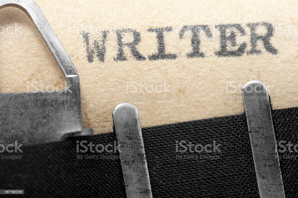 Writer royalty-free stock photo