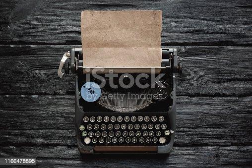 istock Writer table. 1166478895