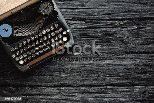istock Writer table. 1166479013