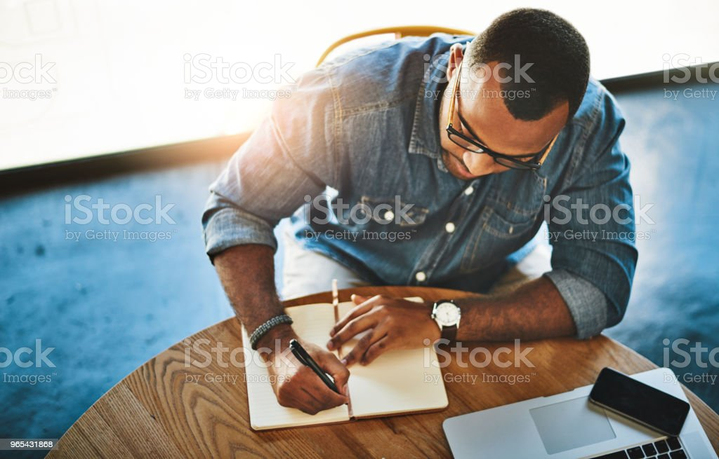 Writer's block can be solved with just coffee royalty-free stock photo