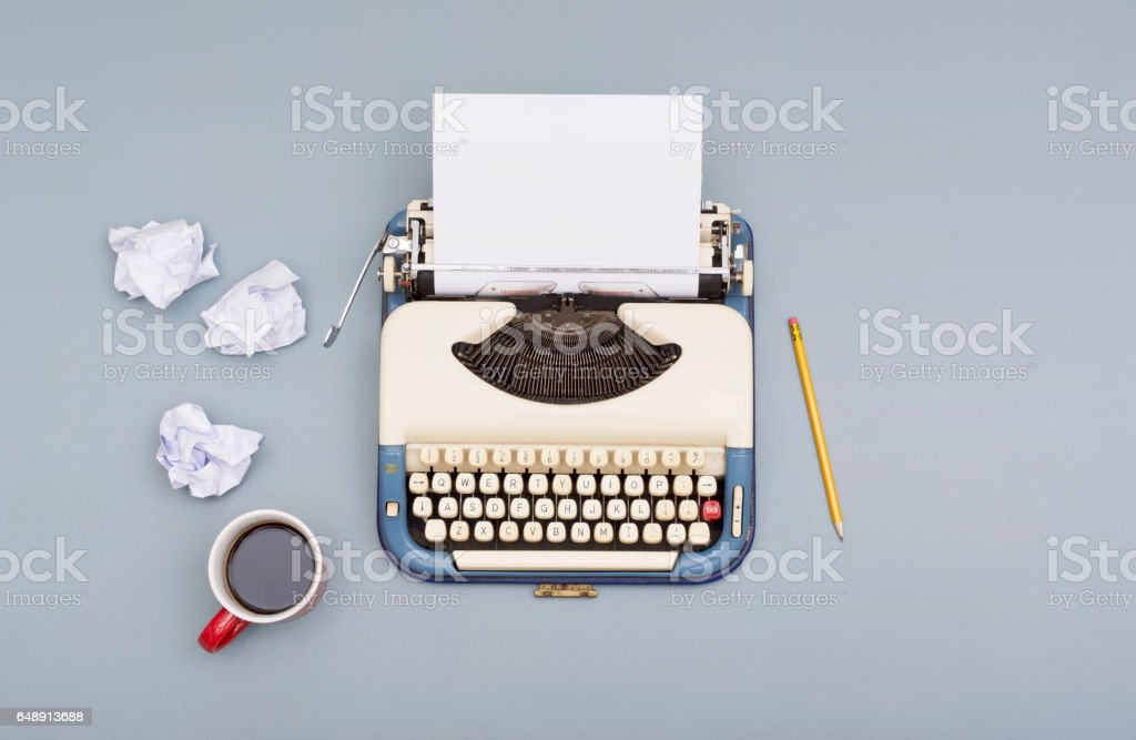 writers block stock photo