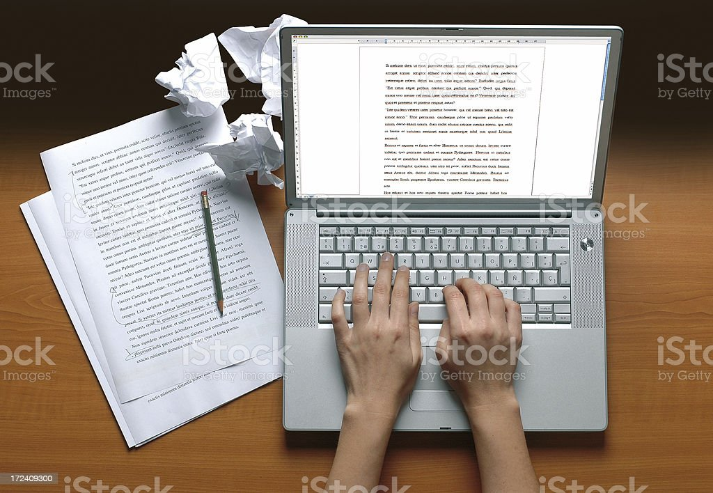 Writer's desk stock photo