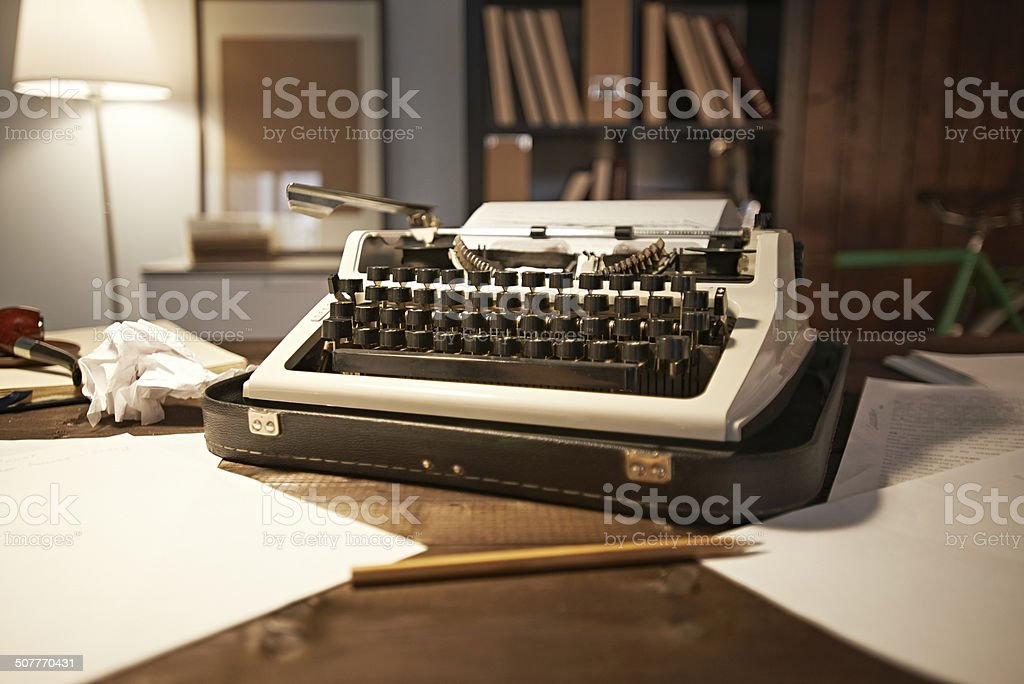 writer's equipment stock photo