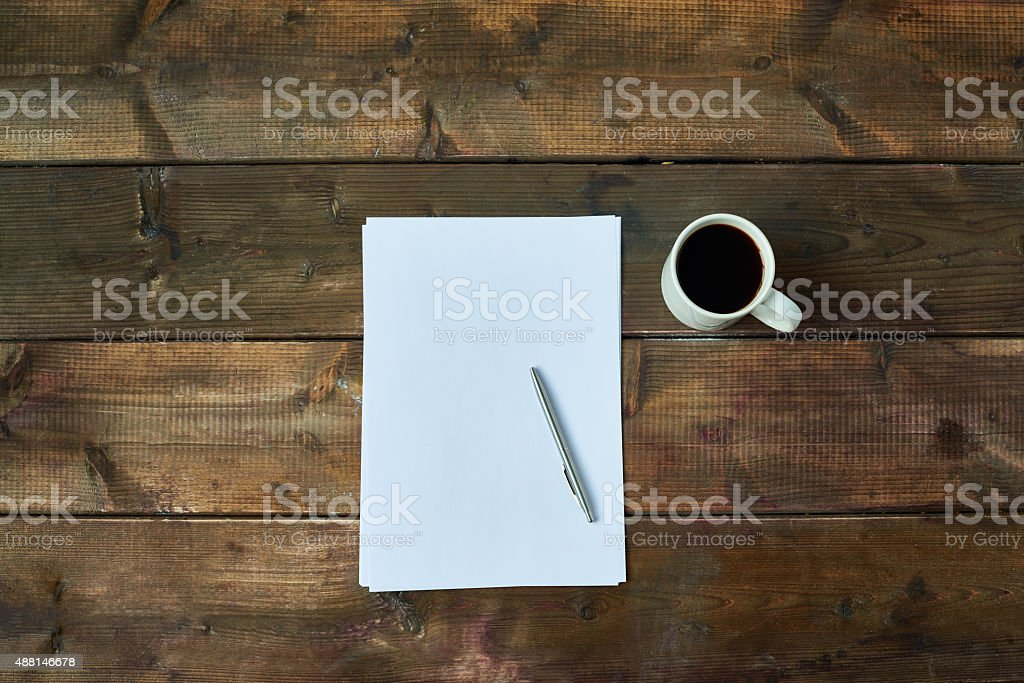 Writer's work place stock photo