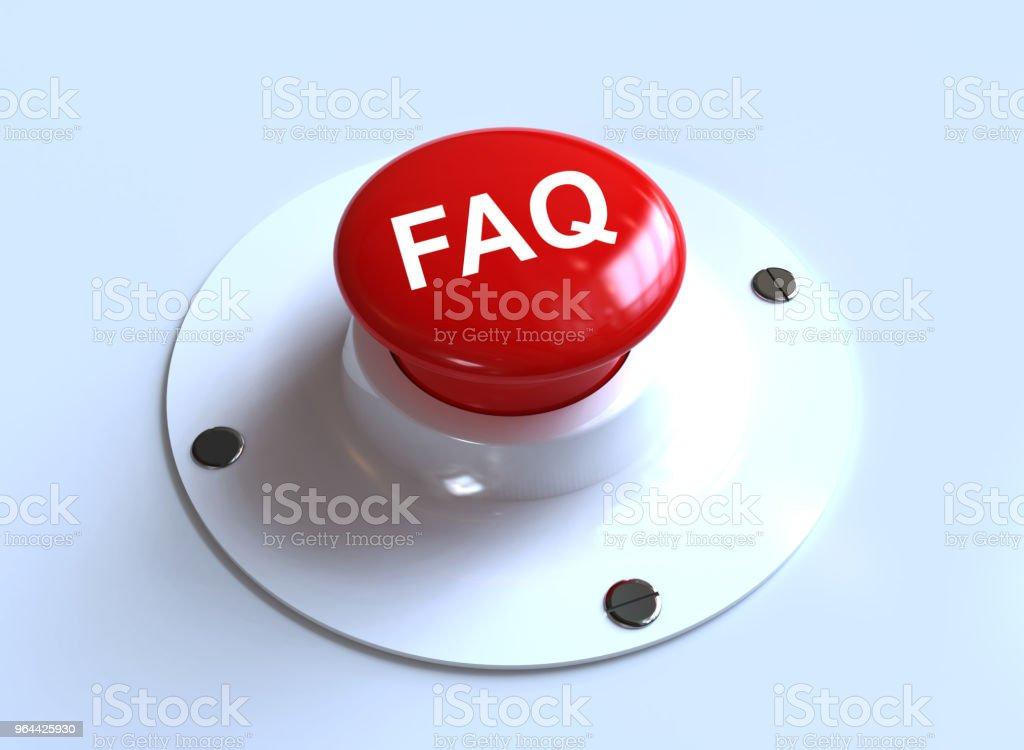 FAQ schrijft op knop - Royalty-free Bedrijfsleven Stockfoto
