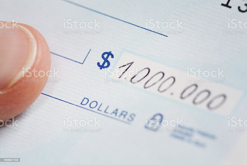 Writing a Check royalty-free stock photo