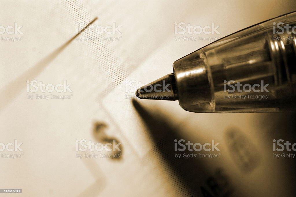 Writing A Check royalty-free stock photo