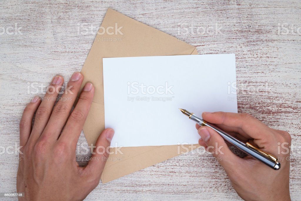 Writing a letter royalty-free stock photo