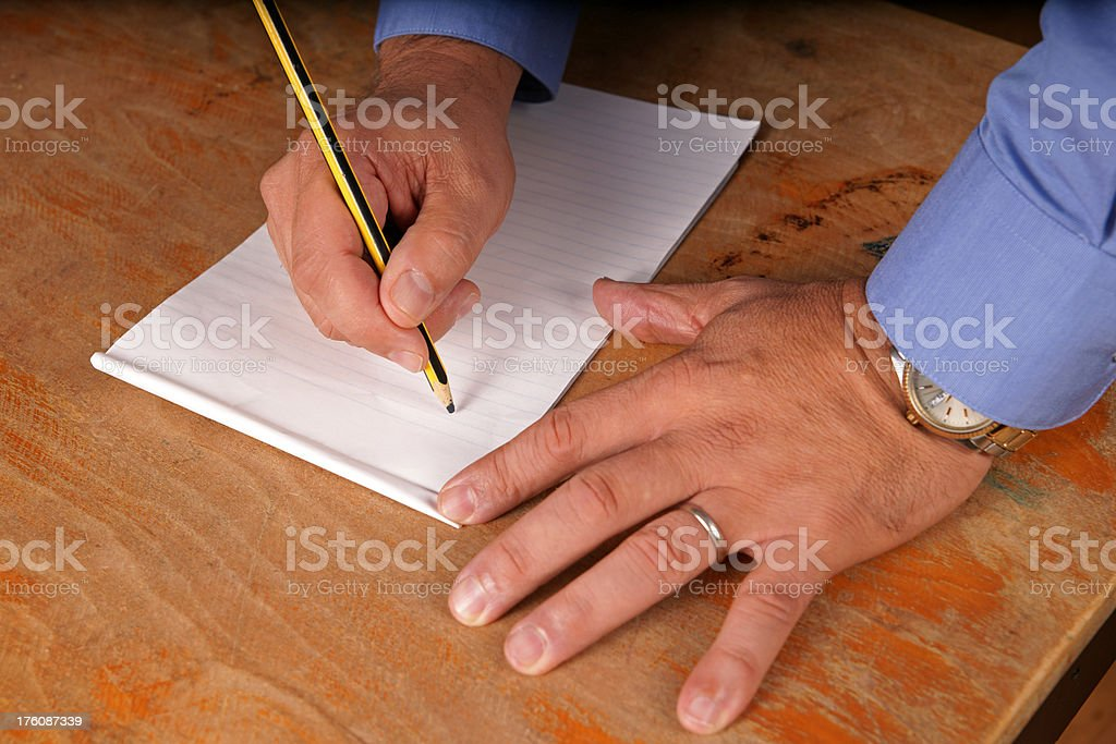 writing a note royalty-free stock photo