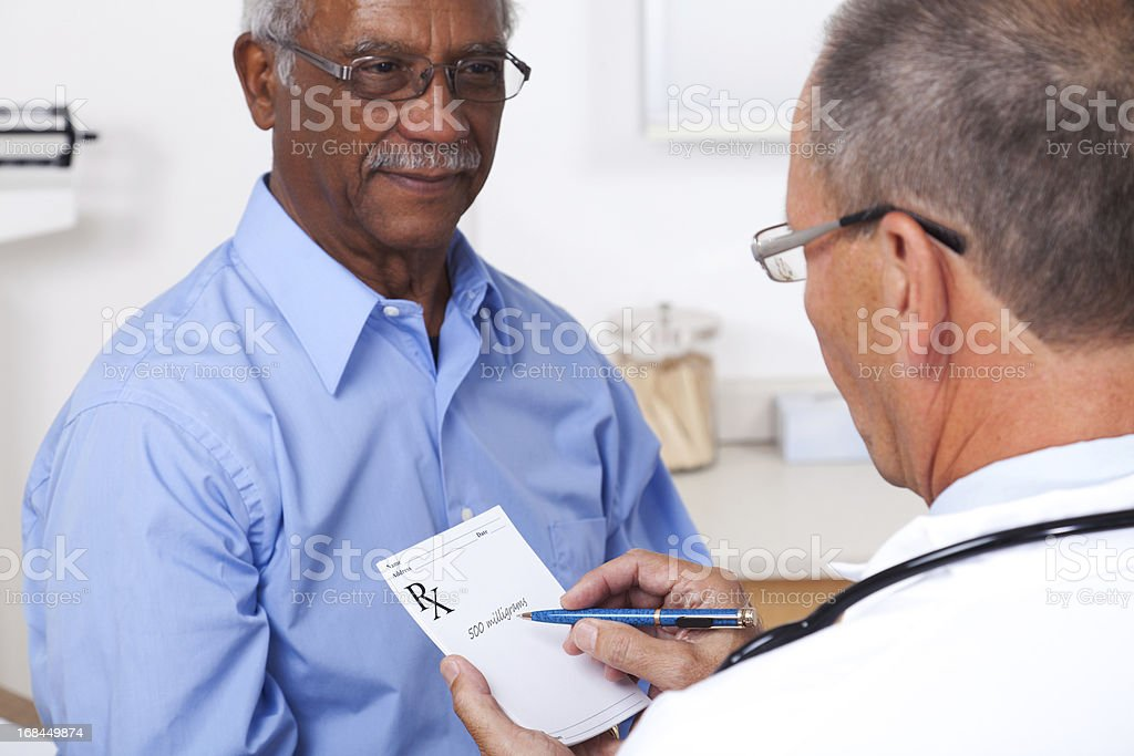 Writing A Prescription royalty-free stock photo