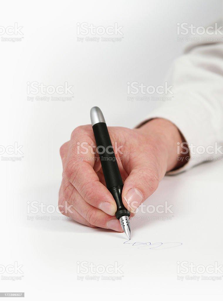 Writing a Signature royalty-free stock photo