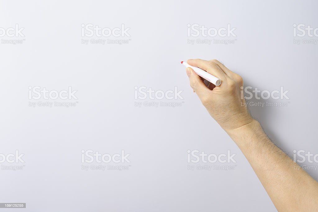 Writing a whiteboard with copy space stock photo