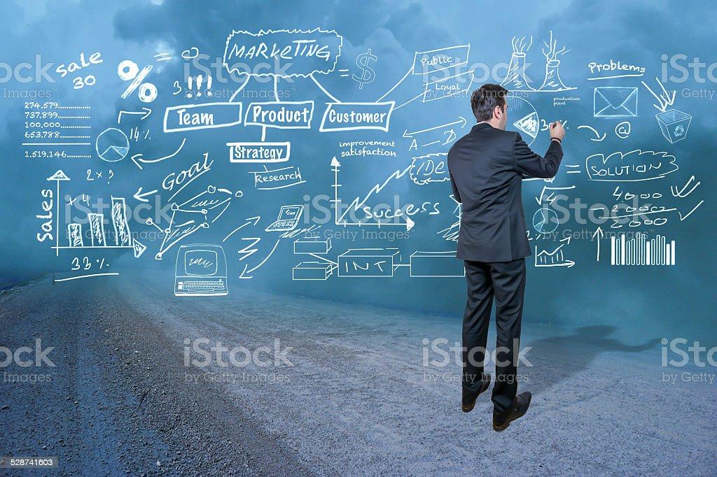Writing an idea stock photo