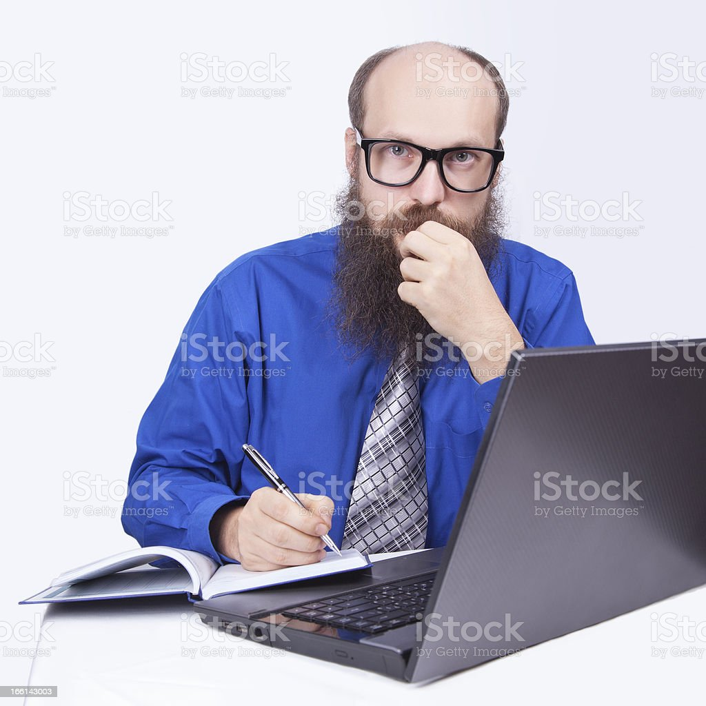 Writing and working - Businessman (Series) royalty-free stock photo