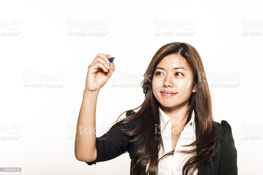 Asiatische Frau Schreiben – Foto