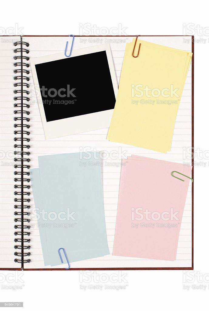 Writing book royalty-free stock photo