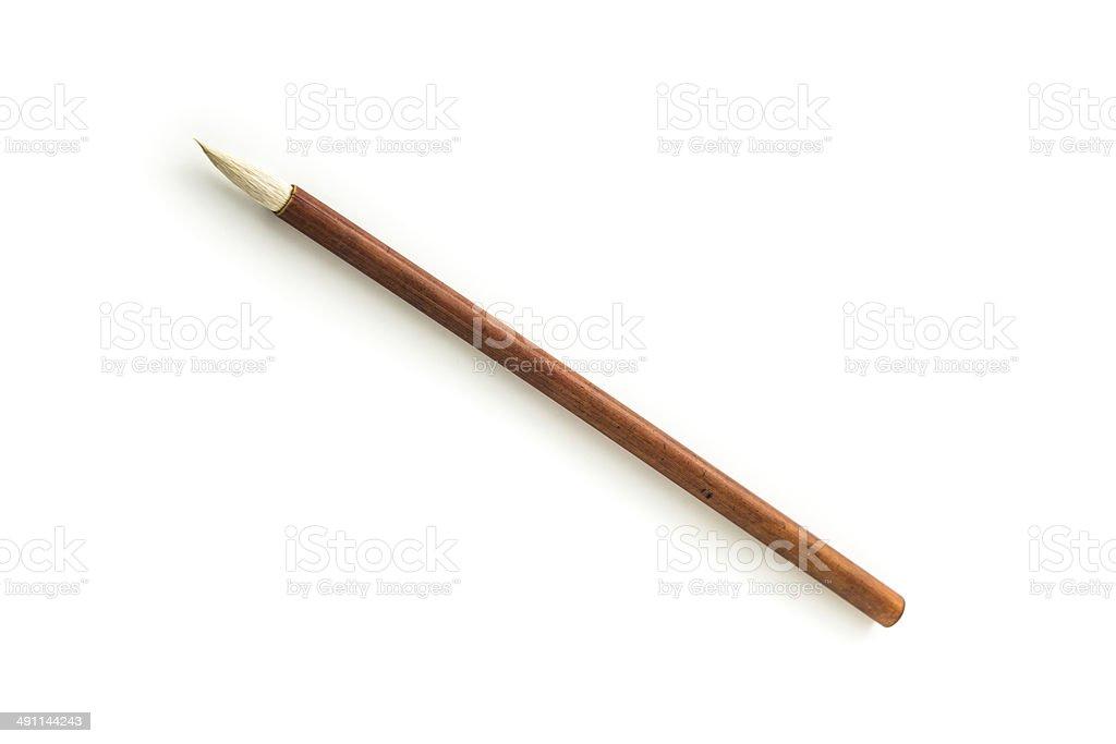 Writing brush stock photo