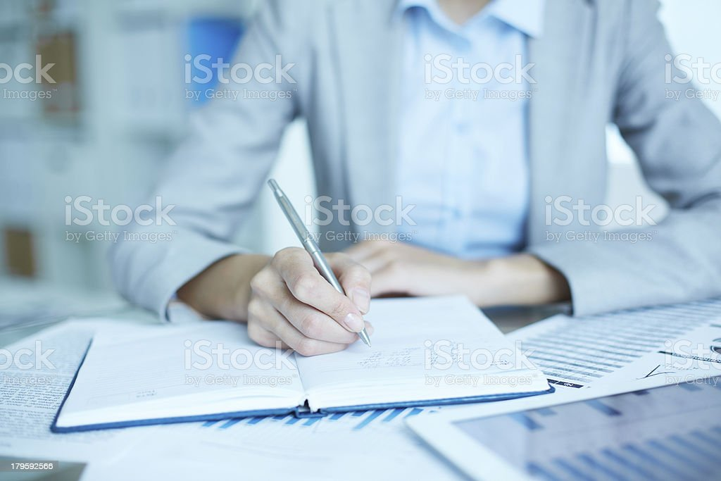 Writing business plan royalty-free stock photo
