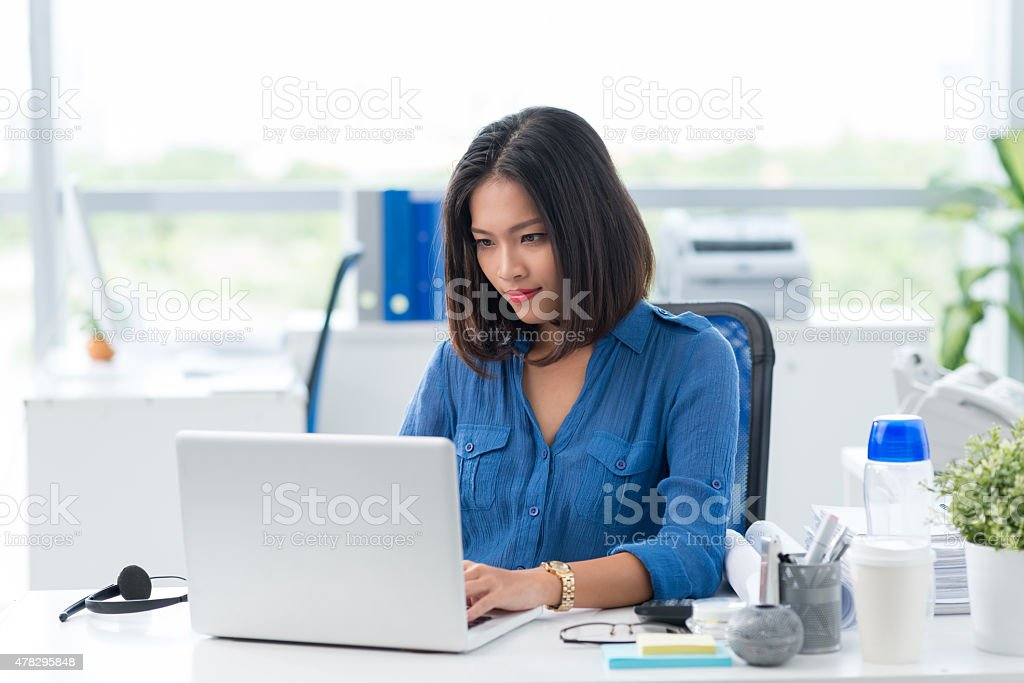 Writing business plan stock photo