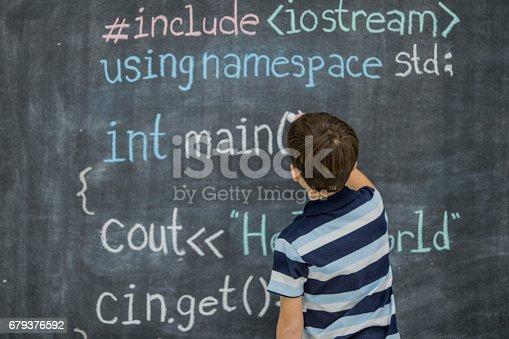 istock Writing Code 679376592