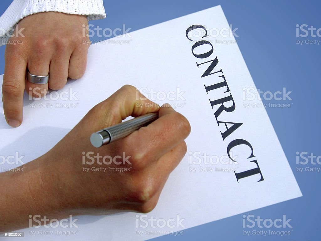 writing contract royalty-free stock photo