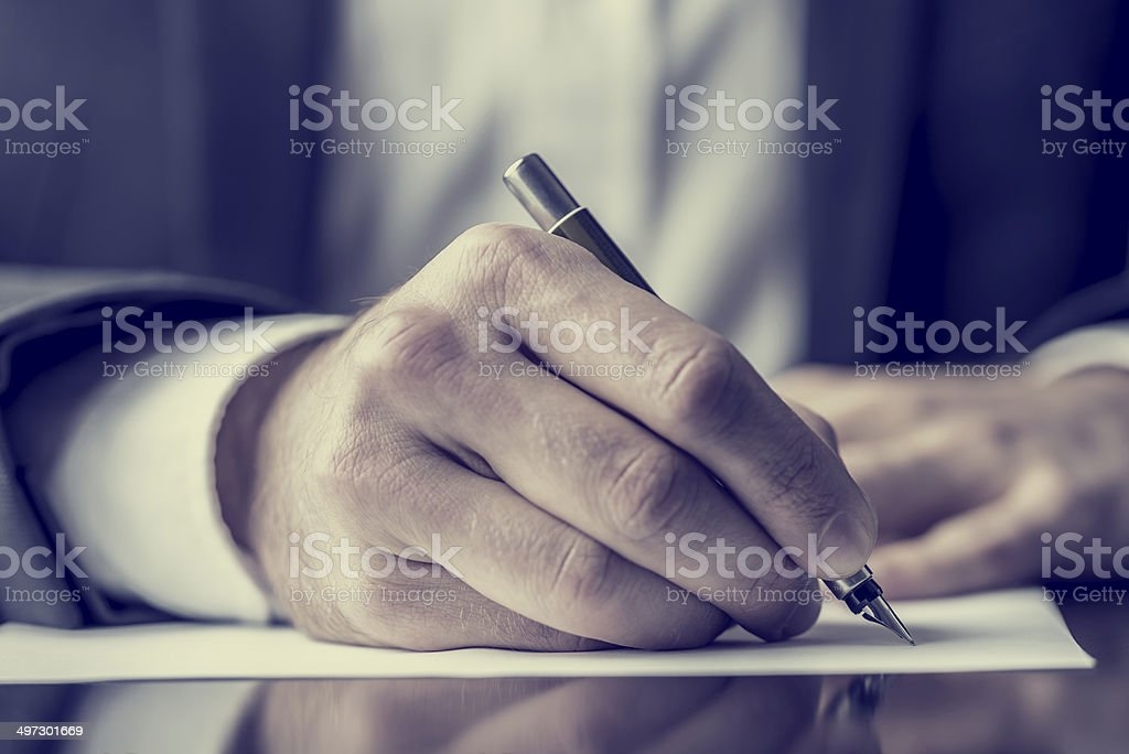 Writing correspondence stock photo