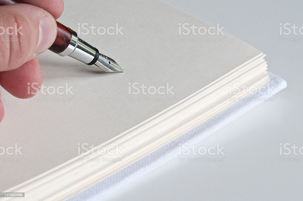 Writing diary stock photo