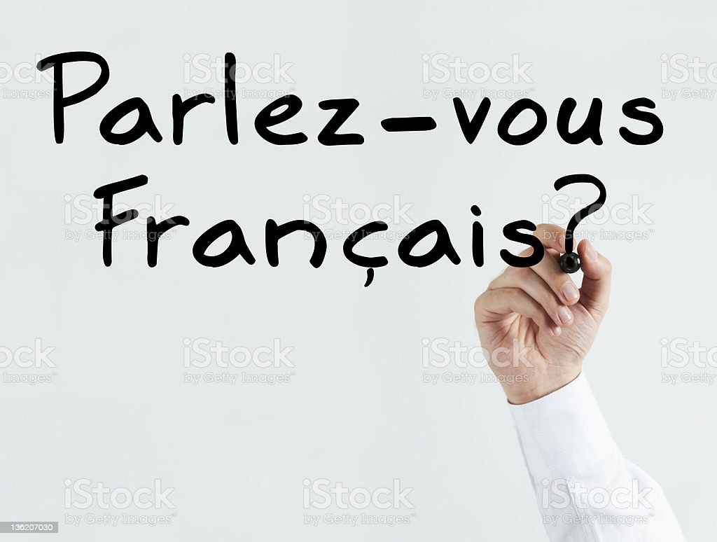 Writing Parlez-vous Francais? stock photo