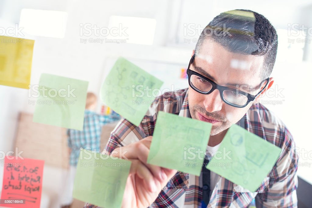 Writing Down Ideas stock photo