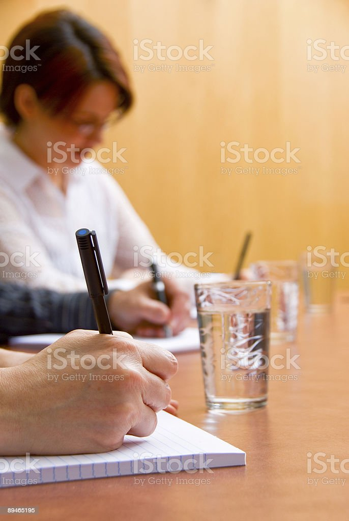 Writing down royalty-free stock photo