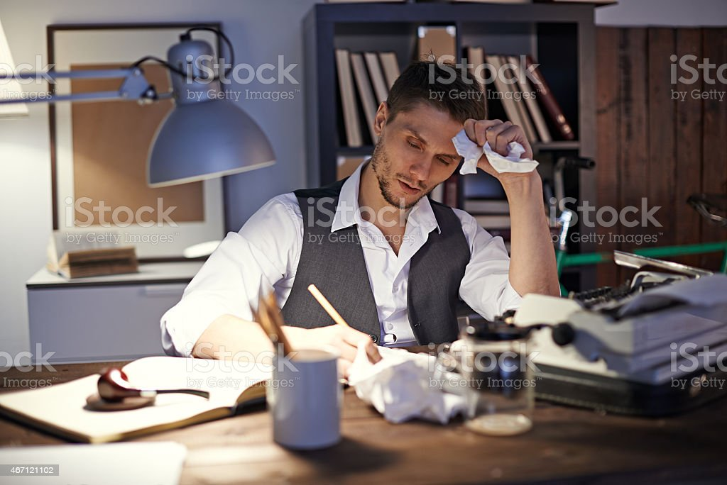 Writing first novel stock photo